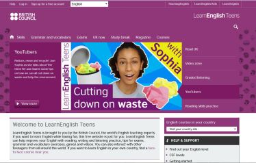 British Council teen website
